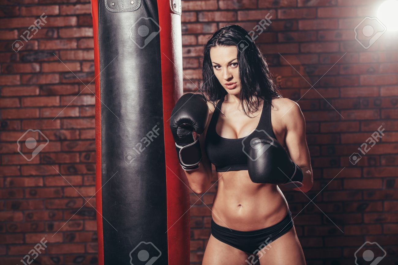 Sexy girls in boxing gloves