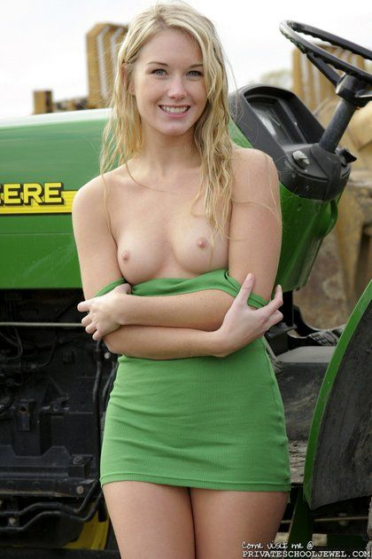 Girls nude on tractor pics
