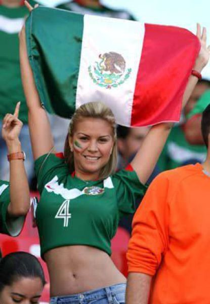 Sexy girl with mexican flag