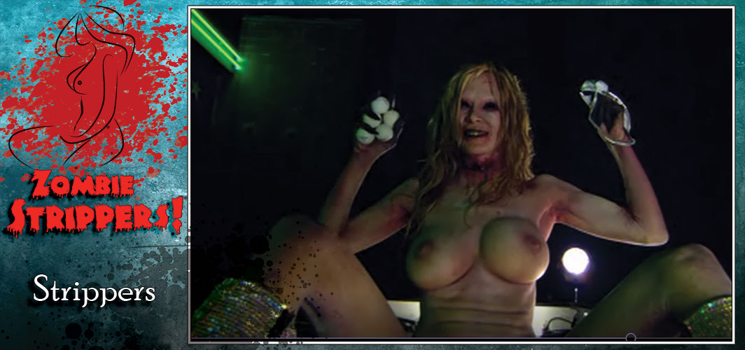 Zombie movie with nude dancing girl