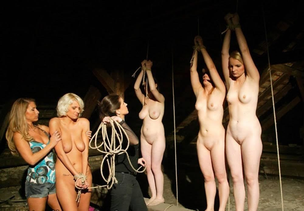 Nude slave girls on auction