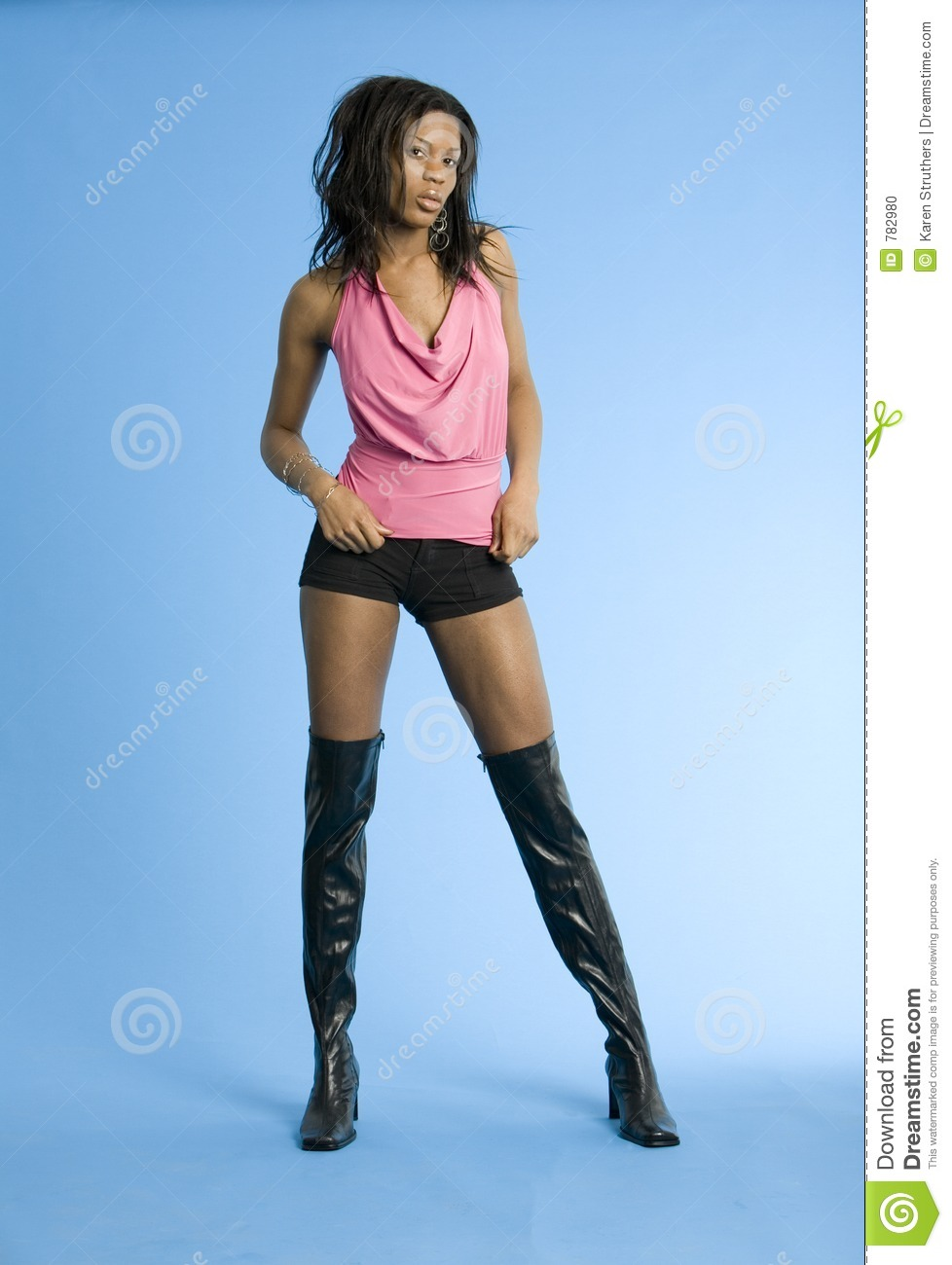 Sexy girl in boots