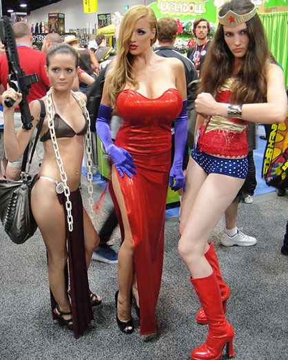 Sexy naked girls with costumes