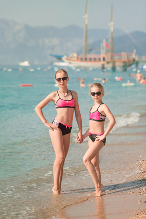 Young sexy little girls posing